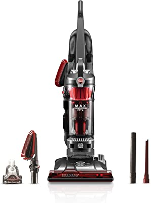 Hoover UH72625 WindTunnel 3 Max Performance Upright Vacuum Cleaner, HEPA Media Filtration and Powerful Suction for Pet Hair, Red