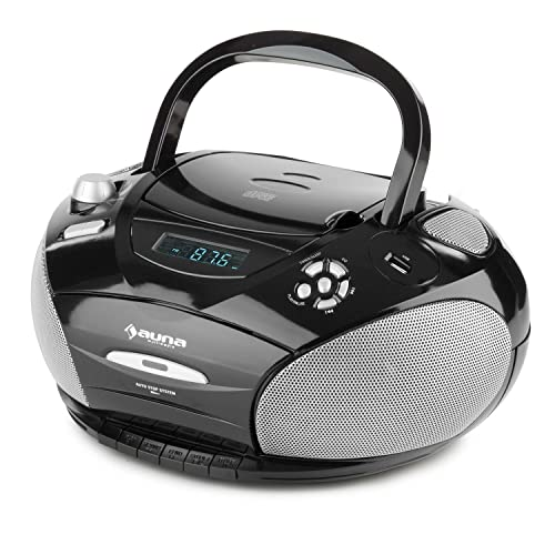 auna RCD 220 Boombox Radio CD - Minicadena compacta , Reproductor ...