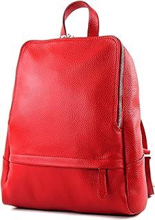 modamoda de T138 - ital Damen Rucksacktasche aus Leder
