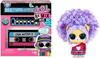 LOL Surprise Remix Pets 9 Surprises, Real Hair Includes Music Cassette Tape with Surprise Song Lyrics, Accessories, Dolls