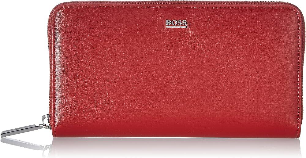 Hugo boss nathalie portafoglio porta carte di credito da donna in pelle sintetica 50441921