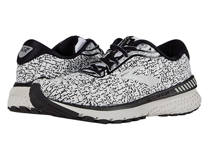 Brooks  Adrenaline GTS 20 (White/Black/Desert Flower) Womens Running Shoes