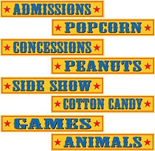 Beistle , 12 Piece Circus Sign Cutouts, 4'' x 24''