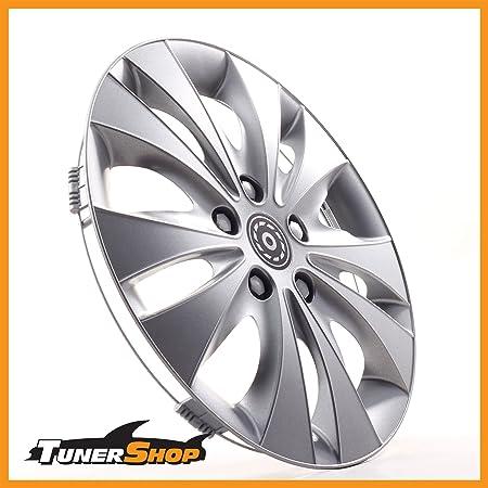 Tunershop 13 Zoll Radkappen Radzierblenden Radblenden Passend Für Hyundai Stahlfelgen 2432167 Silber Winter Sommer Auto