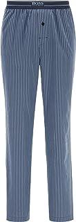 BOSS Urban byxor för män, randiga pyjamasbyxor av lätt bomullspoplin