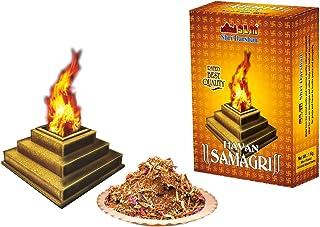 SLM HAVAN SAMAGRI with Pure Sandalwood Powder & Desi Cow Ghee 1Kg Pack