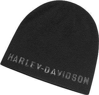HARLEY-DAVIDSON Men's Tonal Knit Hat, Black
