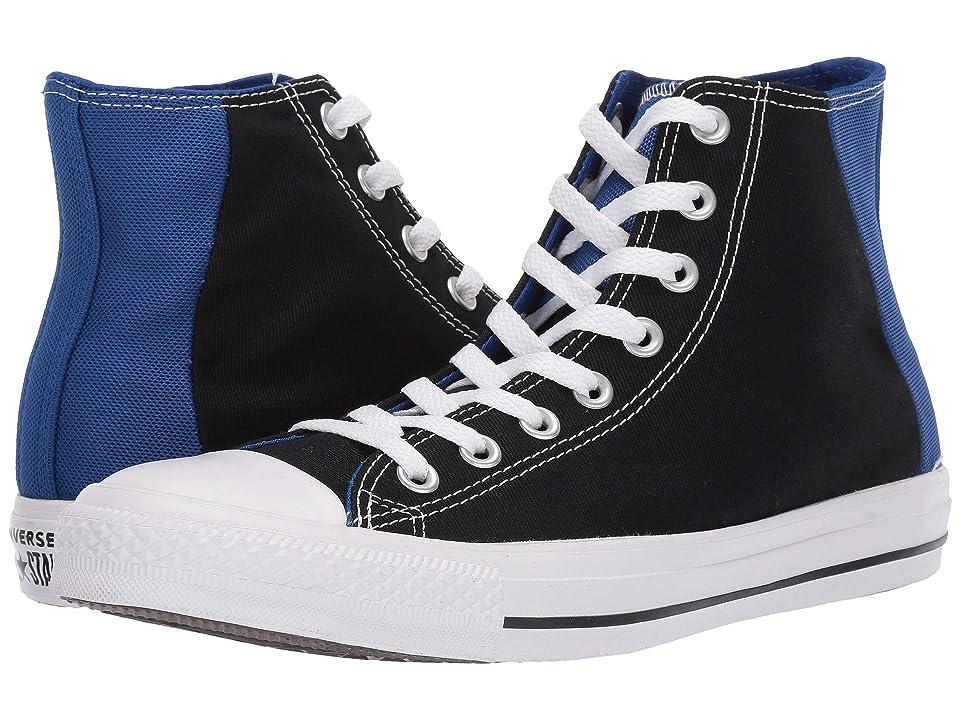 Converse Chuck Taylor(r) All Star(r) Color Block Patch Hi (Black/Blue/White) Athletic Shoes