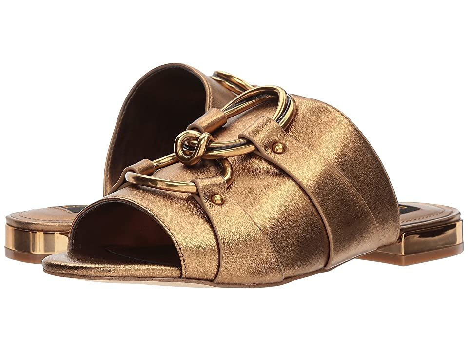 Donna Karan Rae Slide (Antique Gold Metallic Nappa) Women