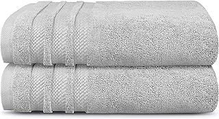Trident Bath Towel Set, 100% Cotton 2 Piece Set Bathroom Towels, Super Soft, High Absorbent, 625 GSM, Machine Washable - L...