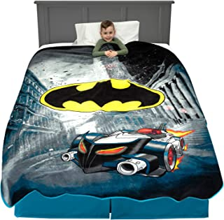 "Franco Kids Bedding Super Soft Plush Blanket, Twin/Full Size 62"" x 90"", Batman"