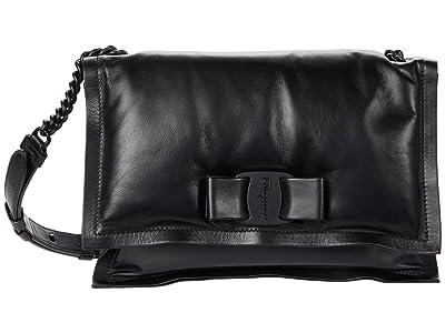 Salvatore Ferragamo Viva Shoulder Bag (Nero) Handbags