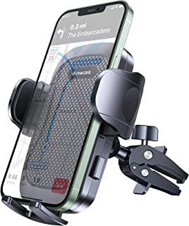 """Anwas Car Phone Holder [Ultra Sturdy Screw-Locking] Cell Phone Mount for Car Air Vent [Big Phone and Thick Cases Friendly] Phone Cradle ,Compatible 4.0""""-6.8"""" Smart Phone"""