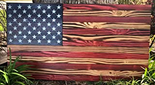 Handmade Rustic American Wood Flag | 36