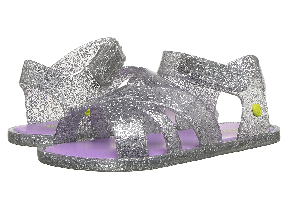 Western Chief Kids Sandbox Sandal (Toddler/Little Kid) (Silver Glitter) Girls Shoes