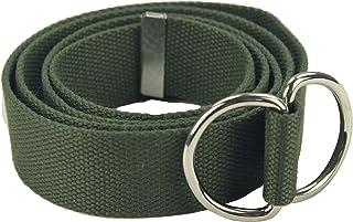 "Web Belt 1.75"" W Vintage Military D-Ring Cotton Web Belt Or Lashing Strap"