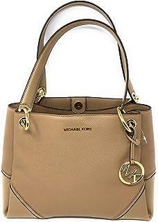 8e9c4ca10a65 Michael Kors Nicole Large Shoulder Tote bag Pebbled Leather In DK Khaki