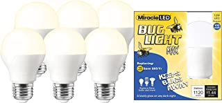 Miracle LED 604009 LED Bug Light MAX (6-Pack) Replacing 100W Old, Hot Incandescent or Yellow-Painted Bulbs, Piece