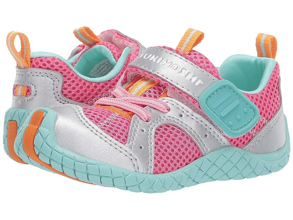 Tsukihoshi Kids Marina (Toddler/Little Kid) (Coral/Silver) Girls Shoes