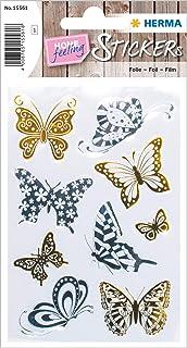HERMA 15561 - Pegatinas creativas de mariposas de oro y plata para niños, niñas, niños, bodas, cumpleaños, regalos, álbum ...