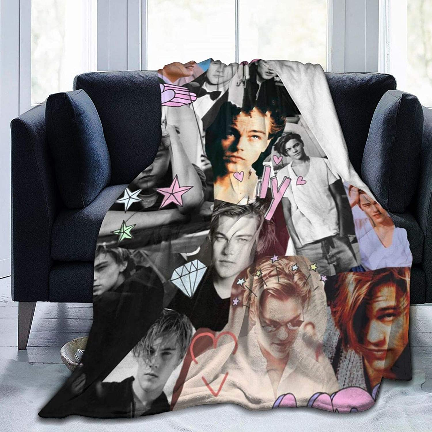 Throw Blanket Leonardo Dicaprio Young Ligh Warm Super All stores are sold service Cheap Soft