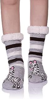 Womens Fuzzy Socks Winter Warm Soft Cozy Fleece Lining Non Slip Slippers Socks