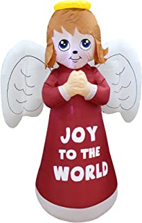 6 Foot Tall Lighted Christmas Inflatable Guardian Angel Wings Prayer Cute Indoor Outdoor Garden Yard Party Prop Decoration