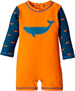 Hatley Kids - Tiny Whales Mini Rashguard One-Piece (Infant)