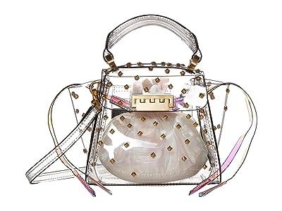 ZAC Zac Posen Eartha Mini Top-Handle Glass Constellation (Clear) Handbags
