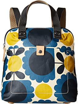 Matt Laminated Scallop Flower Small Backpack Tote