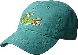 8dfef9d80de Lacoste green croc ribbed wool knit beanie
