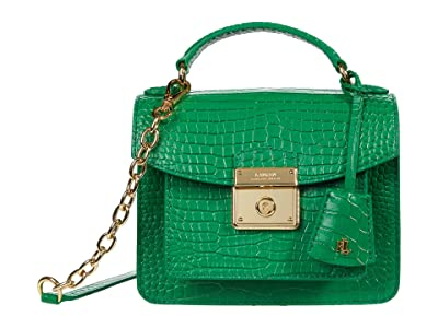LAUREN Ralph Lauren Beckett 19 Crossbody (Spring Emerald) Handbags