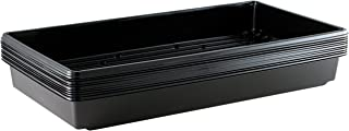Yield Lab 10 x 20 Inch Black Plastic Propagation Tray – Hydroponic, Aeroponic, Horticulture Growing Equipment (10, Trays)