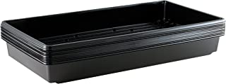 Yield Lab 10 x 20 Inch Black Plastic Propagation Tray (10 Pack) – Hydroponic, Aeroponic, Horticulture Growing Equipment