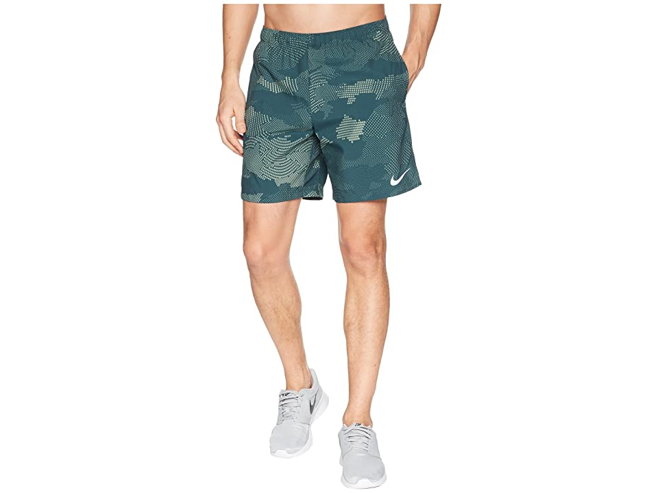 Nike Dry Challenger Shorts 7 Print (Deep Jungle/Deep Jungle) Men