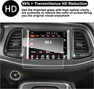 2015-2018 Dodge Challenger SRT 392 Hellcat Uconnect Screen Car Display Navigation Screen Protector, RUIYA HD Clear Tempered Glass Car in-Dash Screen Protective Film (8.4 in)