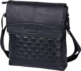 POLO VIDENG Genuine Cow Leather Shoulder Bag Business Messenger Crossbody Bags for Men