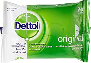 Dettol Original Antibacterial Skin Wipes 20 Count