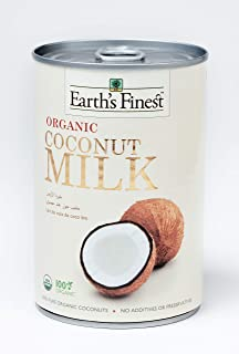 Earth's Finest Organic Coconut Milk - 400ml | Pure Organic Coconut Milk for Professional and Home Cooking | 100% Plant-Bas...