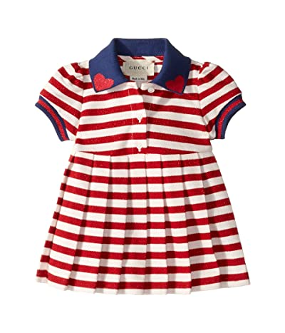 Gucci Kids Striped Dress 544103XJALK (Infant) (Porpora/Nero) Girl