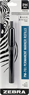 Zebra PM-701 Stainless Steel Permanent Marker Refill, Black Ink, 1-Count