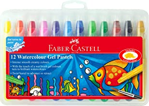 Faber-Castell Smooth Watercolour Gel Pastels, Assorted – Pack of 12, (21-010037)
