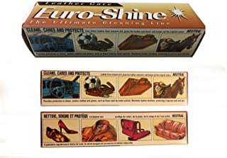 EuroShine Leather Balsam Cleaner for Shoes, Boots, Couch, Bags, Car Seats and Sporting Goods 5.3 Oz (150 Ml)