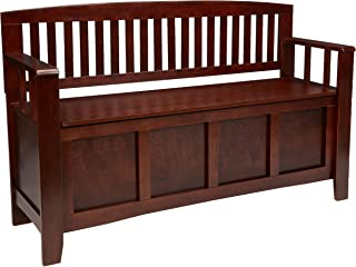 "Linon Home Dcor Linon Home Decor Cynthia Storage Bench, 50"" w x 17.25"" d x.."