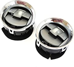 Red Hound Auto 2 Front Interior Dashboard Louvres Chrome AC Heater Air Vent Compatible with Ford F-150 F150 2009-2014