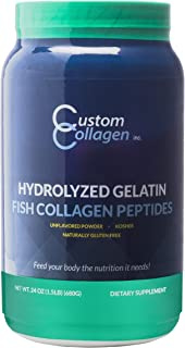 Fish Collagen Peptides 1.5lb (24oz) Jar - Marine Collagen Powder - Paleo - Non GMO - Highly Soluble - Unflavored Powder - Scoop Included