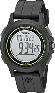 Men's TW4B12100 Expedition Baseline Digital CAT Black/Green Resin Strap Watch