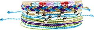 VSCO Girl Friendship Bracelets for Teens and Women, String Bracelets for Teen Girls, Party Favors for Pre Teen Girl, Cute Braided and Stretch Friendship Bracelet Set, Stackable Woven String Bracelets