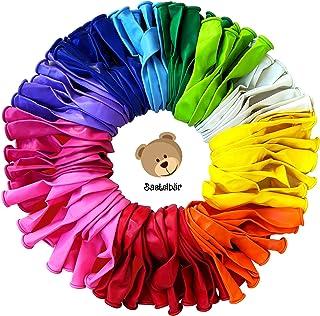 Bastelbär lot de 100 ballons gonflables - LATEX NATUREL SANS POLLUANTS - ballon baudruche - ballons anniversaire - ballon ...