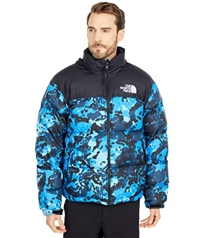 The North Face 1996 Nuptse Jacket (Clear Lake Blue Digi Topo Print) Men